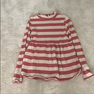Striped turtle neck free people shirt